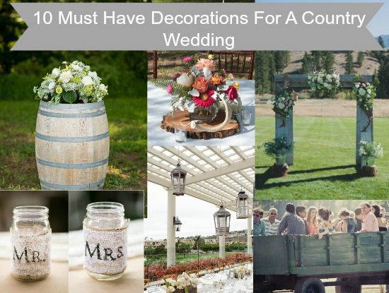 10 decorations you must have for a country wedding rustic wedding chic 10 decorations you must have for a country wedding junglespirit Choice Image