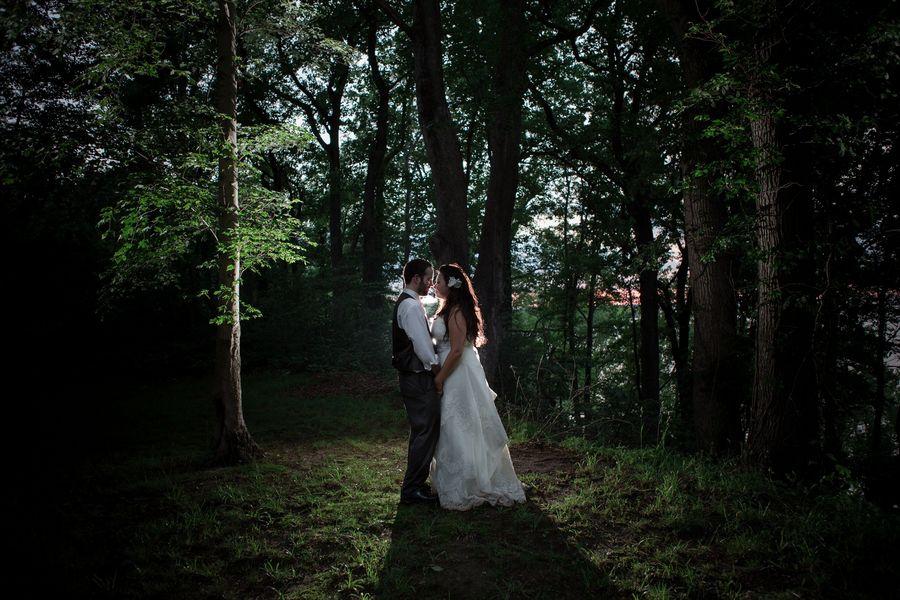 Rustic Night Wedding