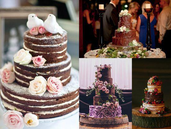 Rustic chocolate wedding cakes rustic wedding chic chocolate wedding cakes junglespirit Gallery