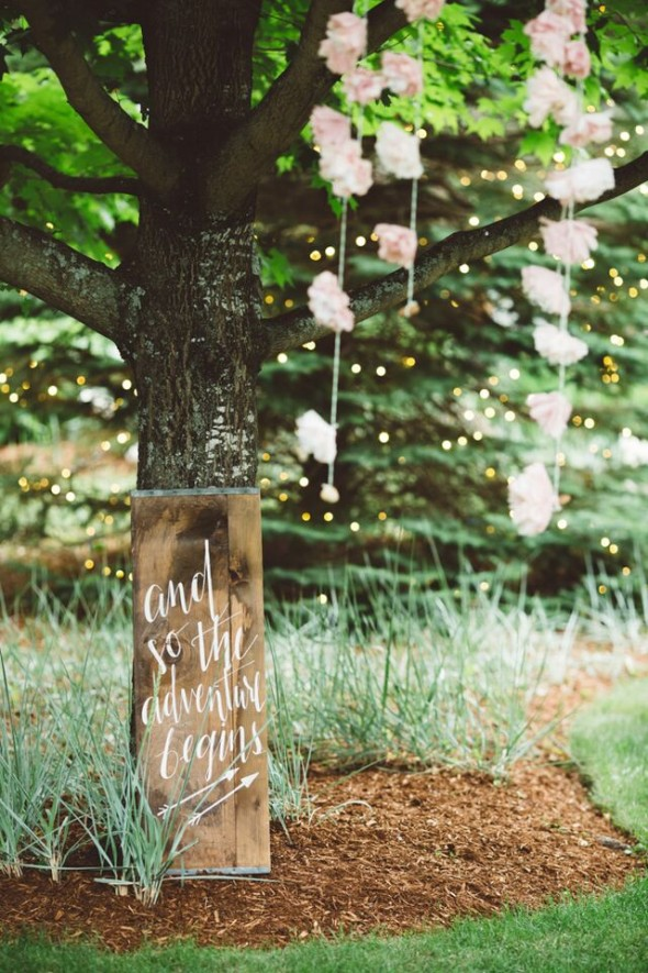 ... Backyard Rustic Wedding ...