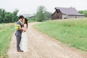 Summer Sunfower Barn Wedding