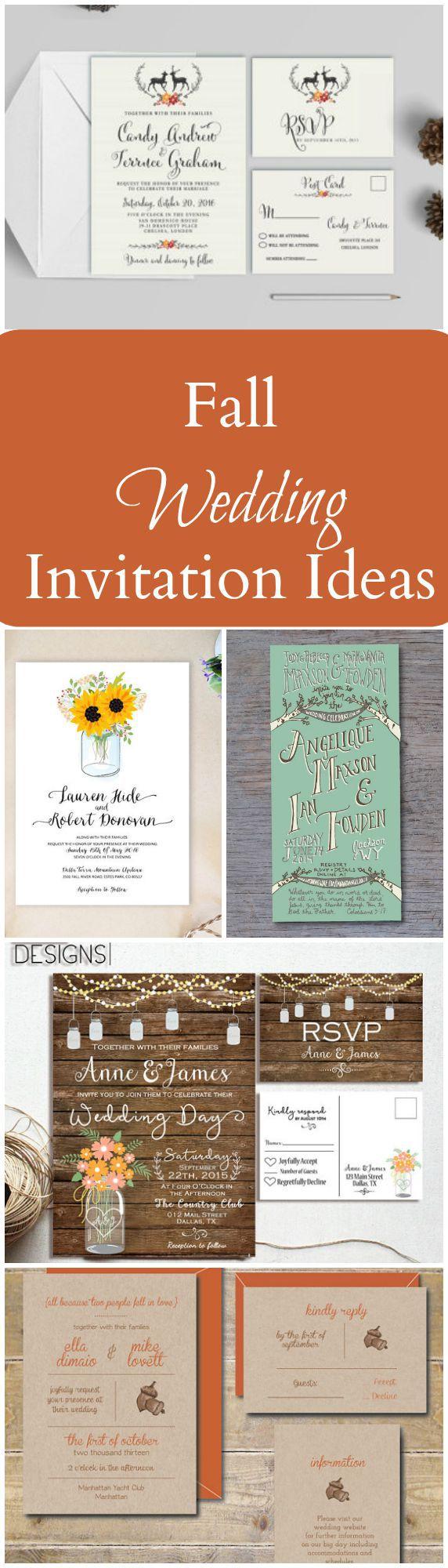 20 Perfect Fall Wedding Invitations Rustic Wedding