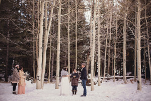 Snowy Winter Rustic Wedding