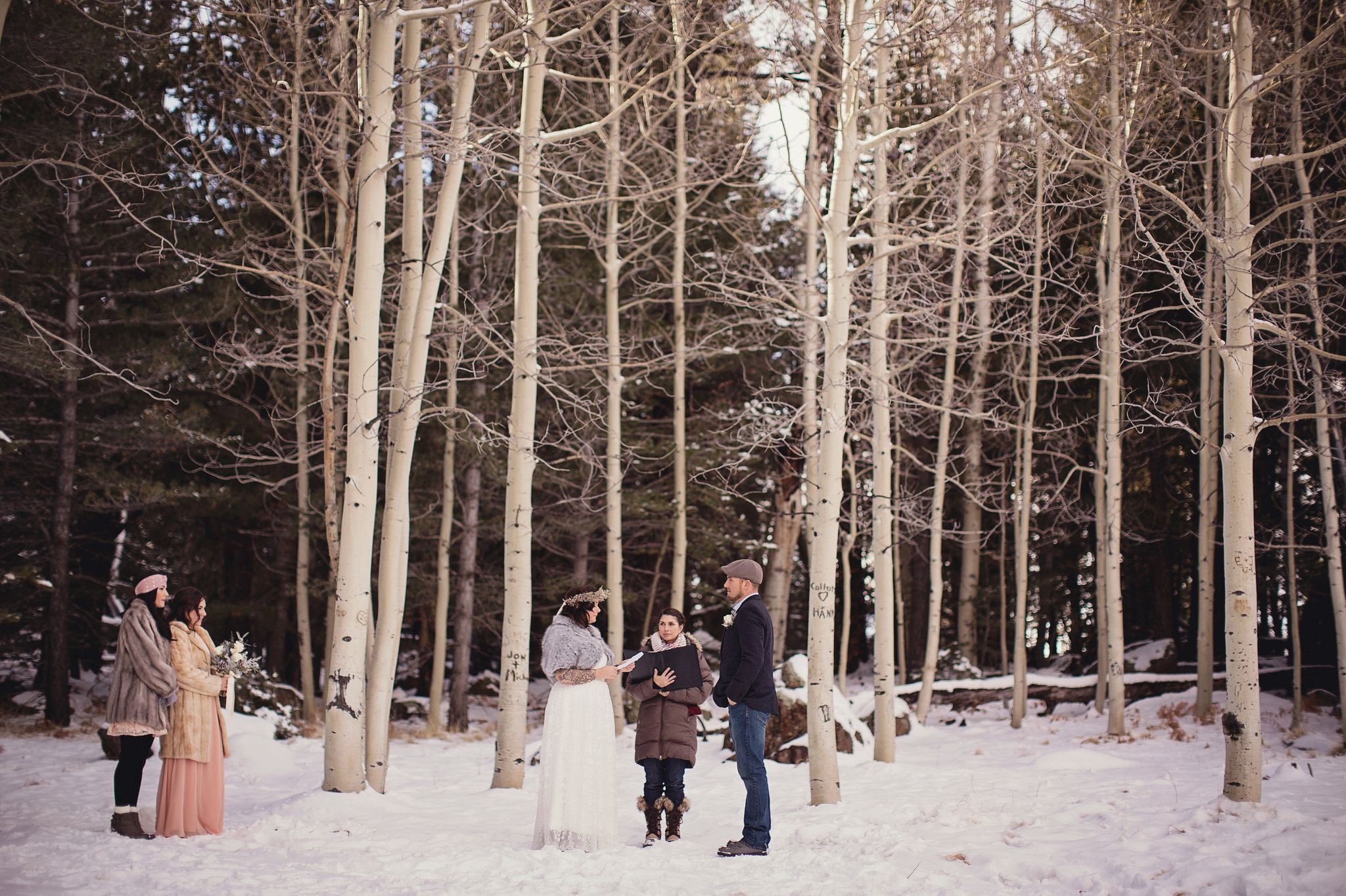 Snowy Rustic Wedding