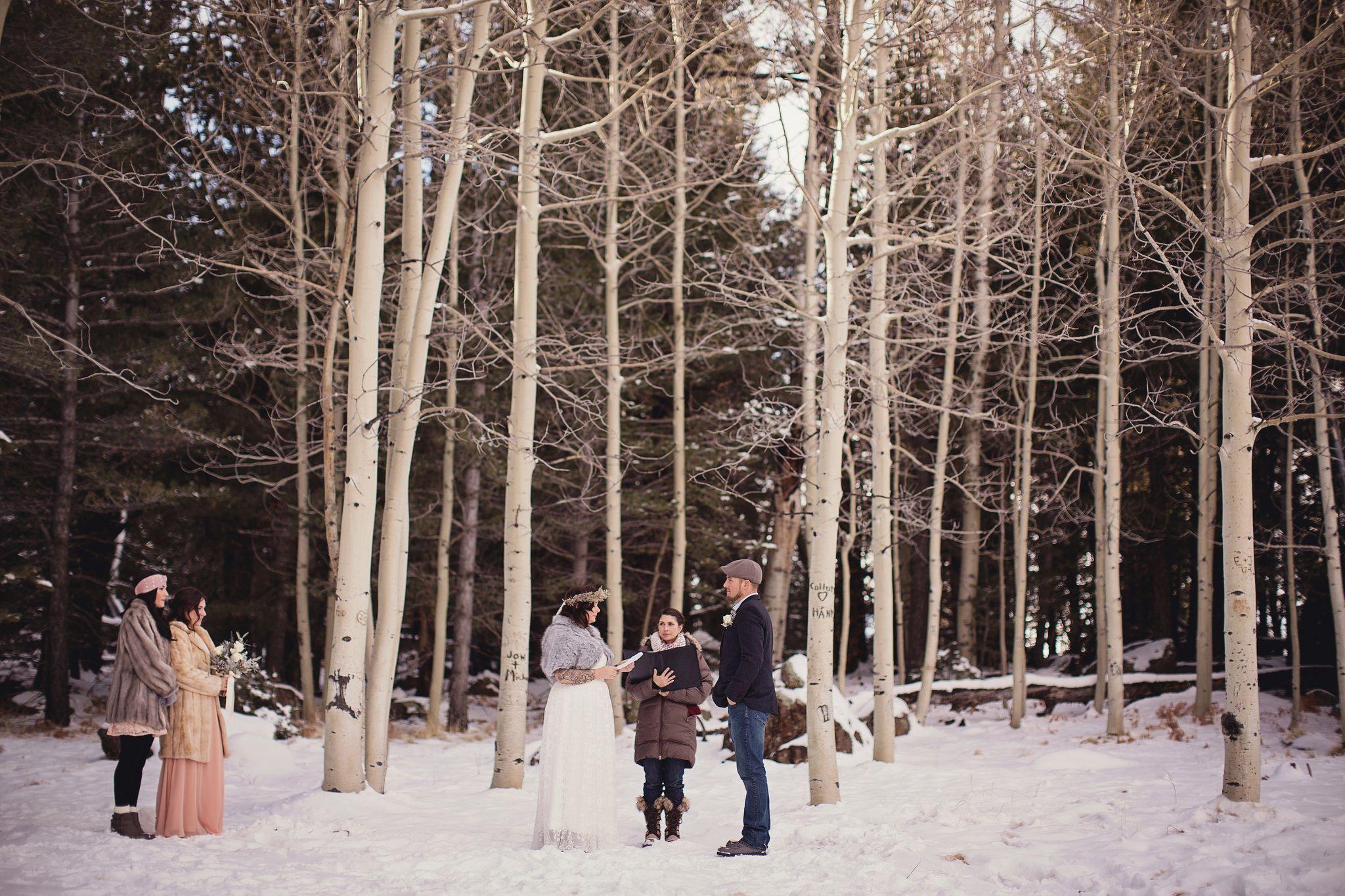 Snowy Rustic Wedding