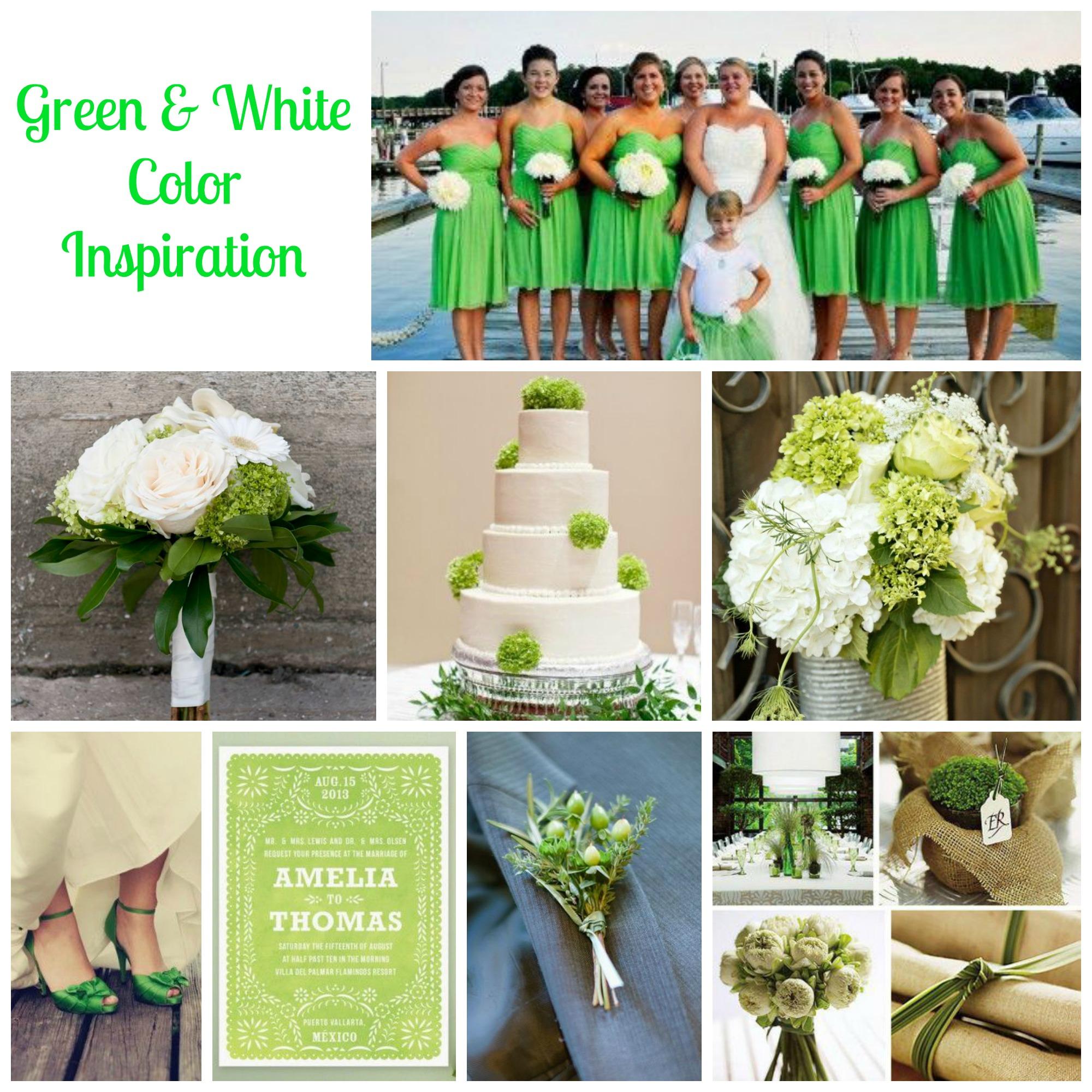 Green white wedding ideas rustic wedding chic green white wedding ideas junglespirit Gallery