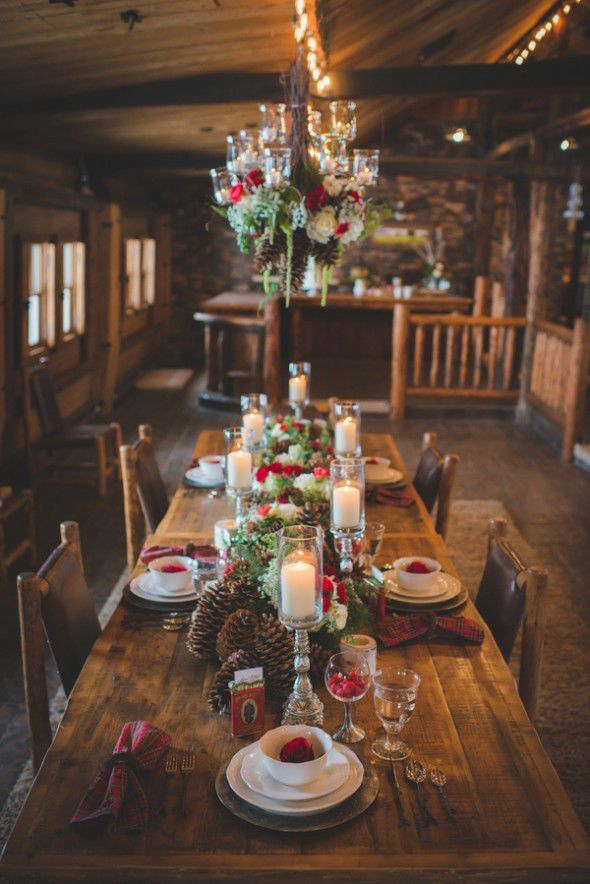 Pineceones At Rustic Wedding