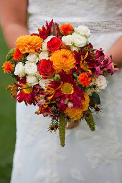 30 Fall Wedding Bouquets - Rustic Wedding Chic