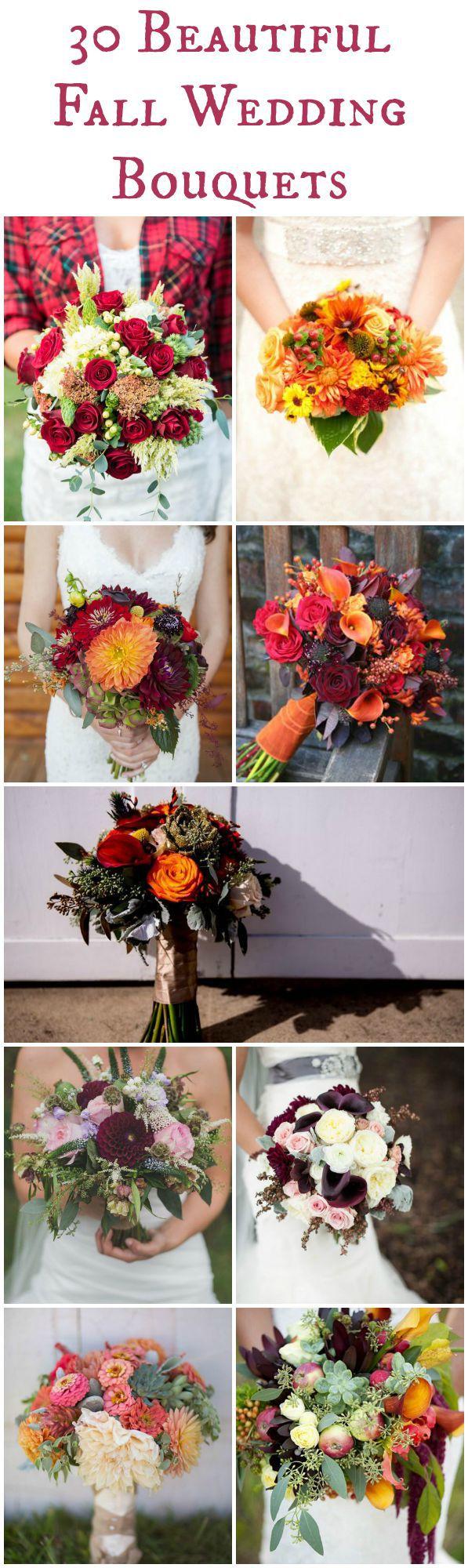 30 Fall Wedding Bouquets Rustic Wedding Chic