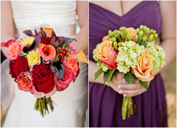 Country Fall Wedding Bouquets