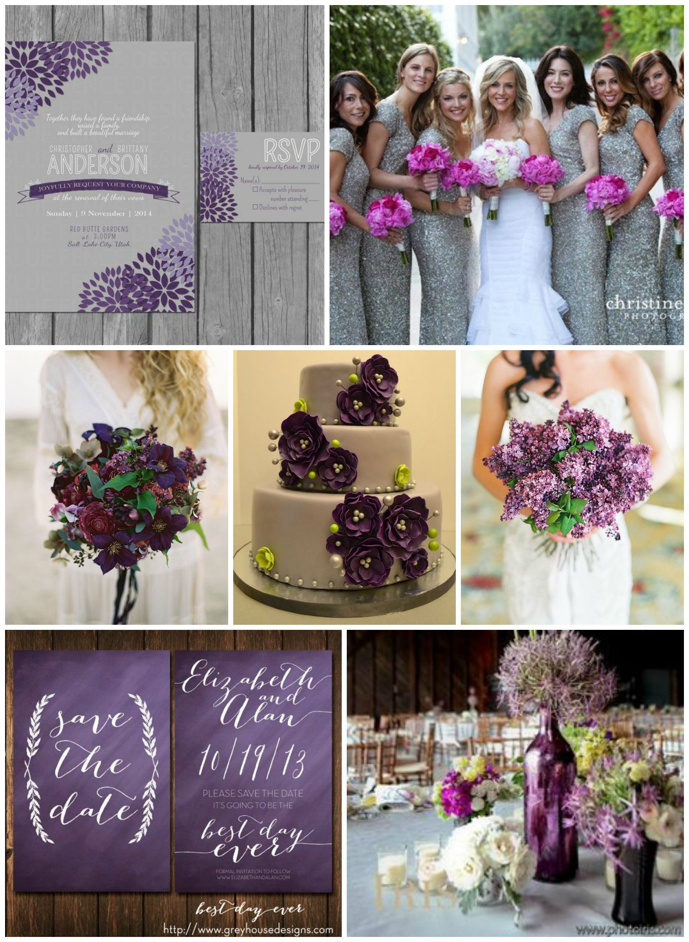 purple amp gray wedding ideas rustic wedding chic