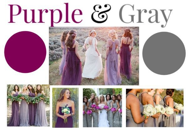 Purple Gray Wedding Ideas