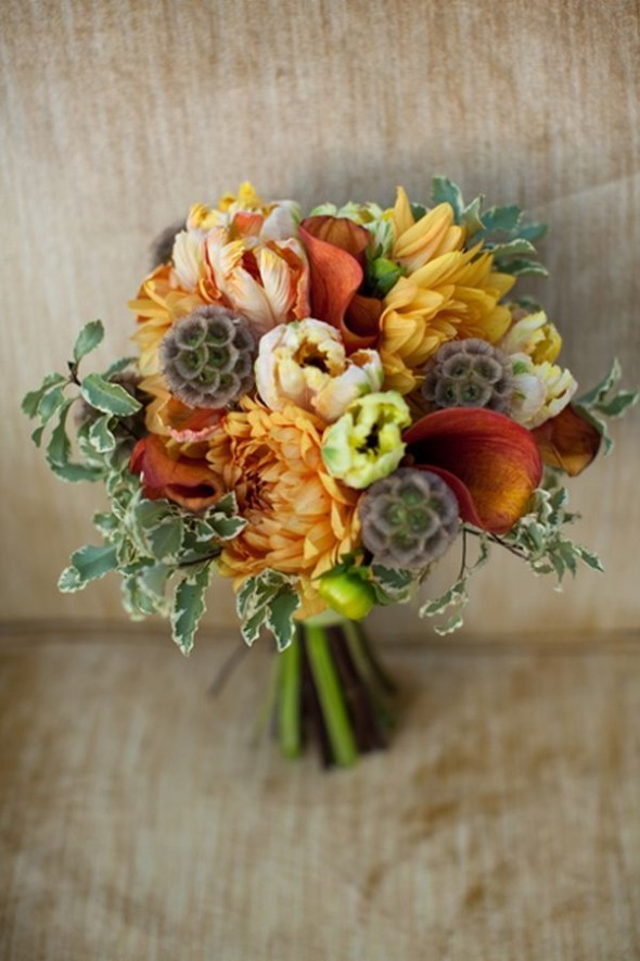 Wedding bouquets autumn flowers : Fall wedding bouquets rustic chic