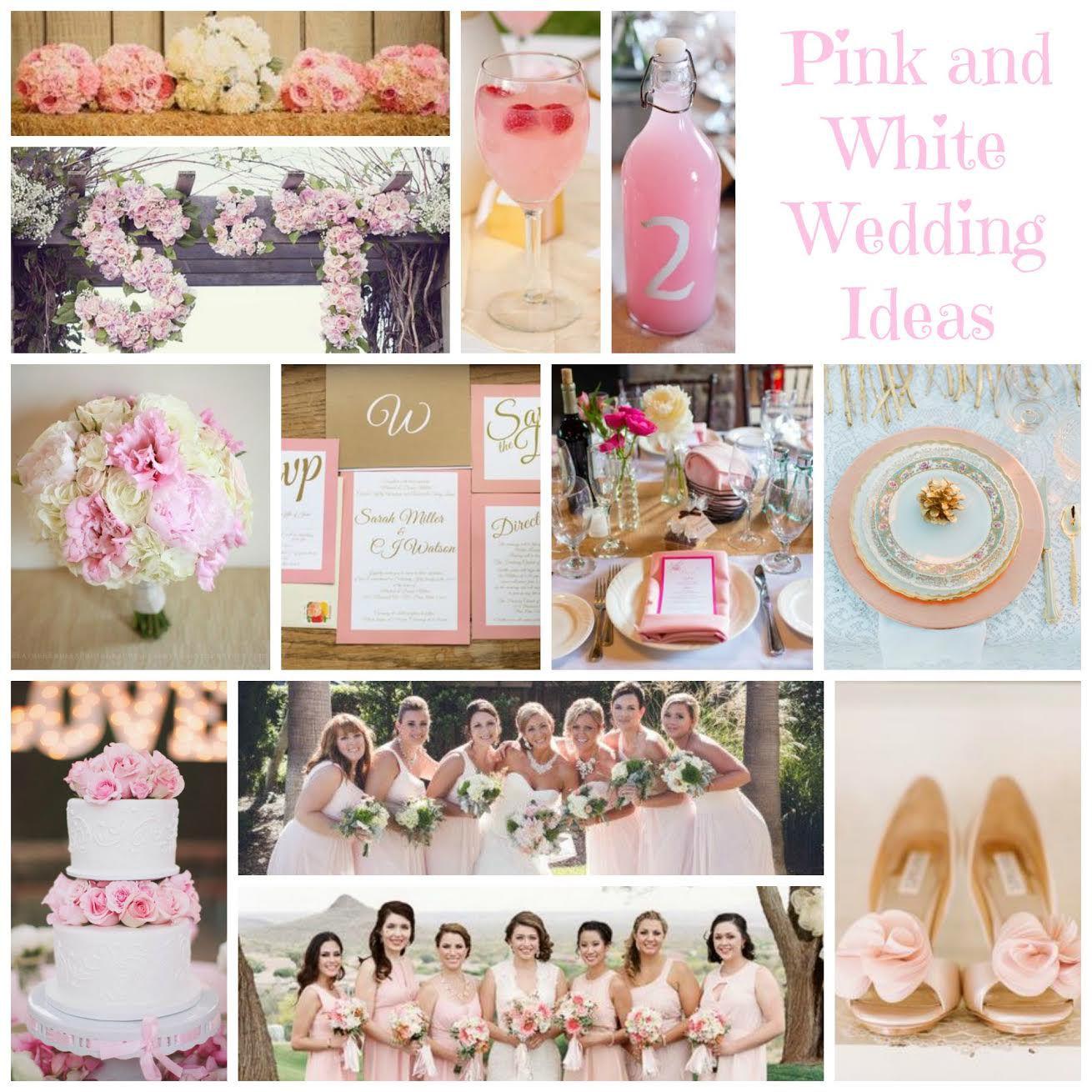 Chic White Wedding Theme: Pink & White Wedding Ideas