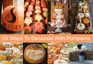 20 Ways To Decorate Your Wedding With Pumpkins