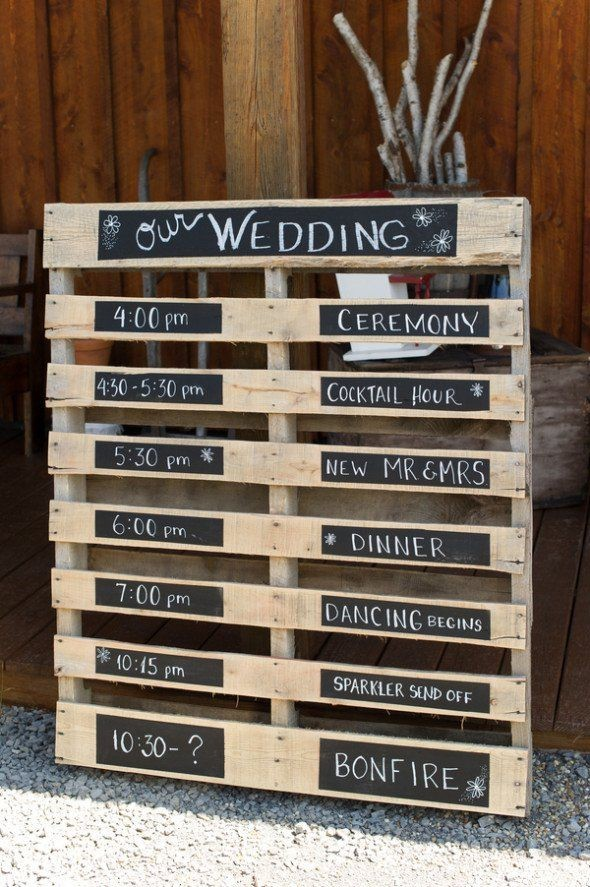 15 Pallet Sign Ideas For Your Wedding Rustic Chic