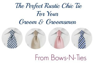The Perfect Wedding Tie From Bows-N-Ties