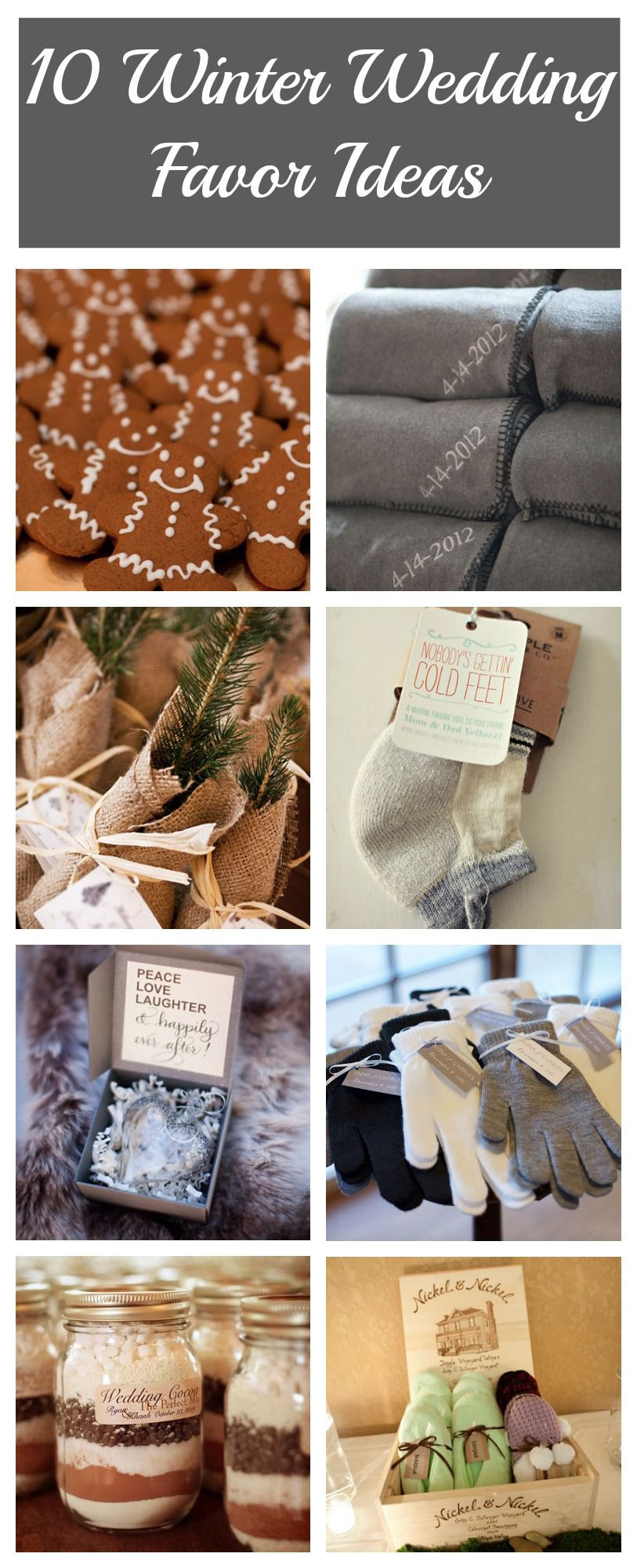 10 Winter Wedding Favor Ideas Rustic Wedding Chic