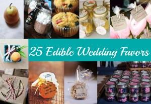 25 Edible Wedding Favors