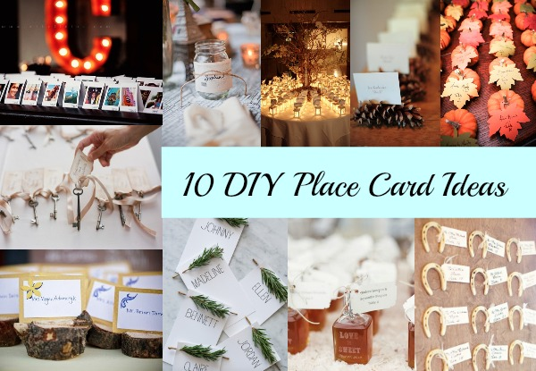 10 diy place card ideas rustic wedding chic Unique place card ideas