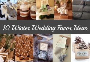 10 Winter Wedding Favor Ideas