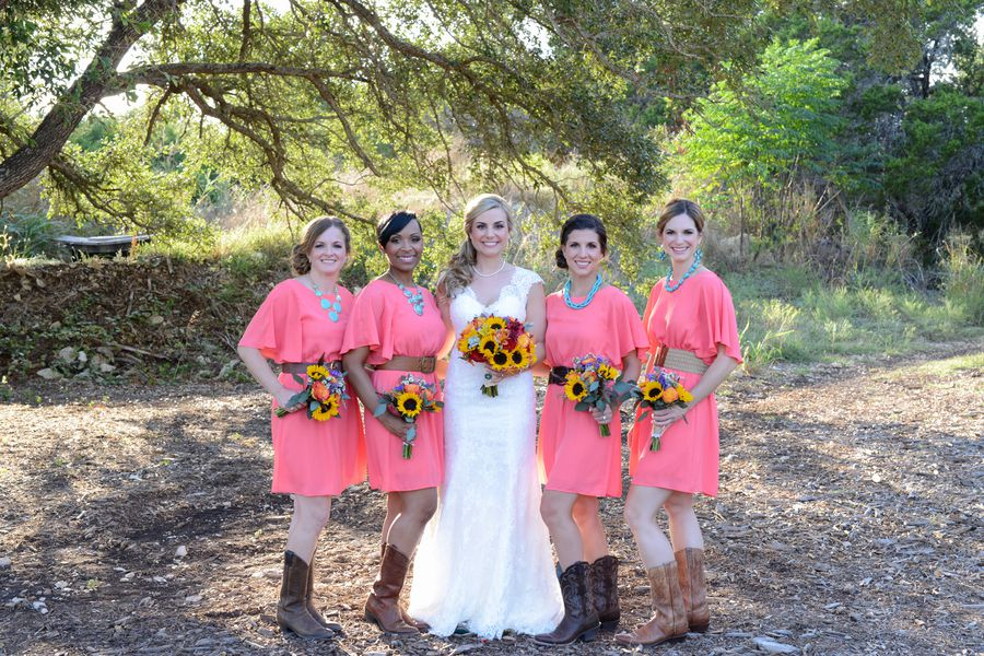 Coral & Turquoise Country Wedding - Rustic Wedding Chic