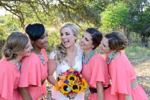 Coral & Turquoise Country Wedding