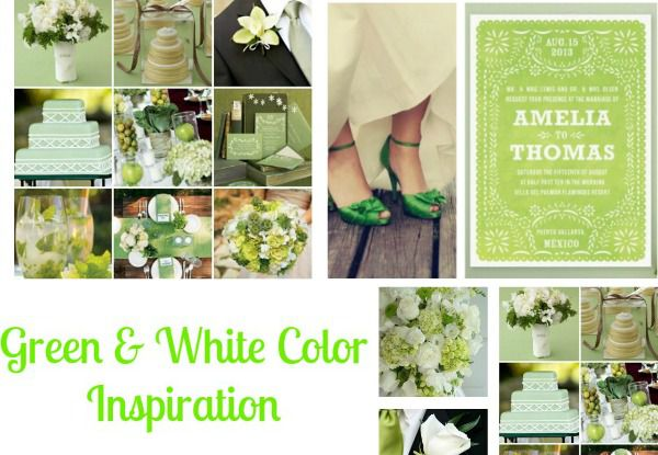Green & White Wedding Ideas