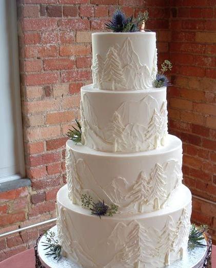Tree Themed Wedding Ideas: Winter Wedding Cakes That Wow