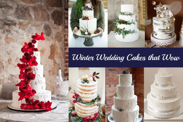 Winter Wedding Cakes That Wow