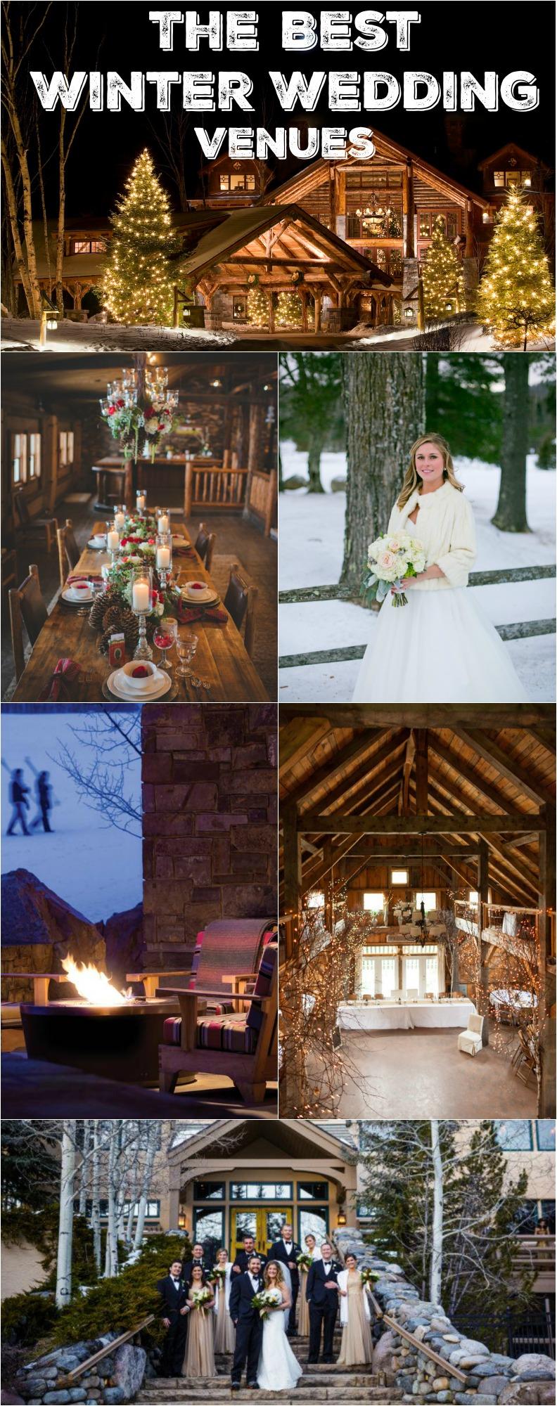 10 Must-See Winter Wedding Venues - Rustic Wedding Chic