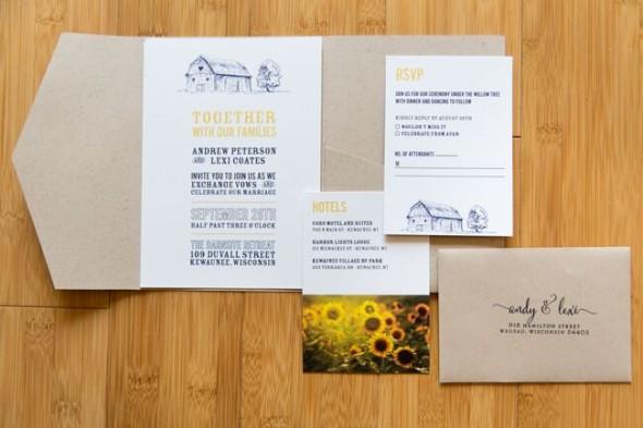 Barn Wedding Invitation