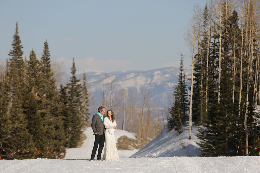 Rustic Winter Mountain Wedding