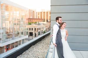 Modern Style Library Wedding