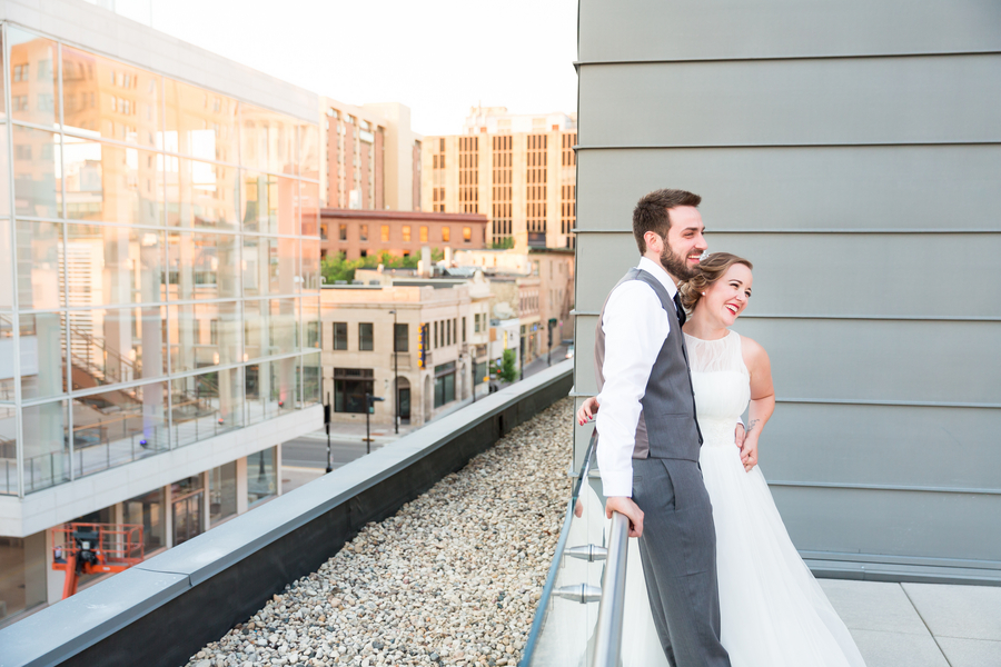 Modern Style Library Wedding