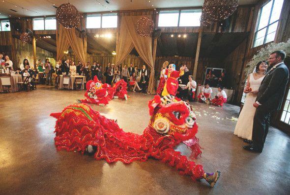 Dancing Dragons At Wedding