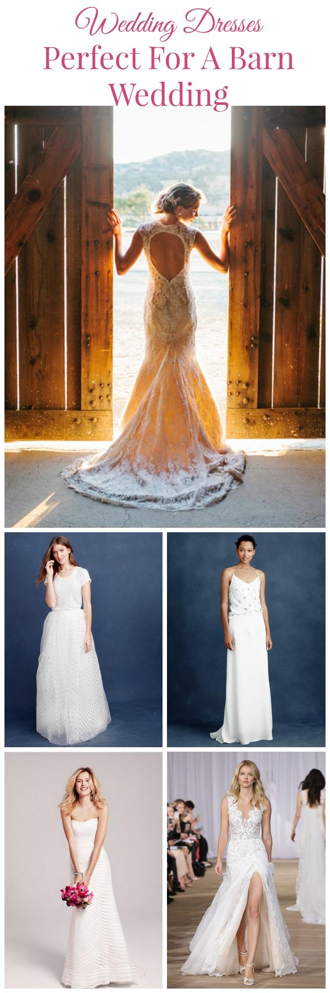 7 wedding dresses perfect for a barn wedding rustic for Dress for barn wedding