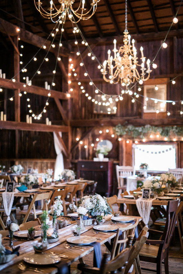 Rustic elegant barn wedding rustic wedding chic for Country wedding reception decorations