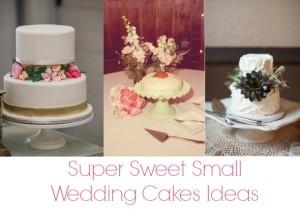 10 Super Sweet Small Wedding Cakes