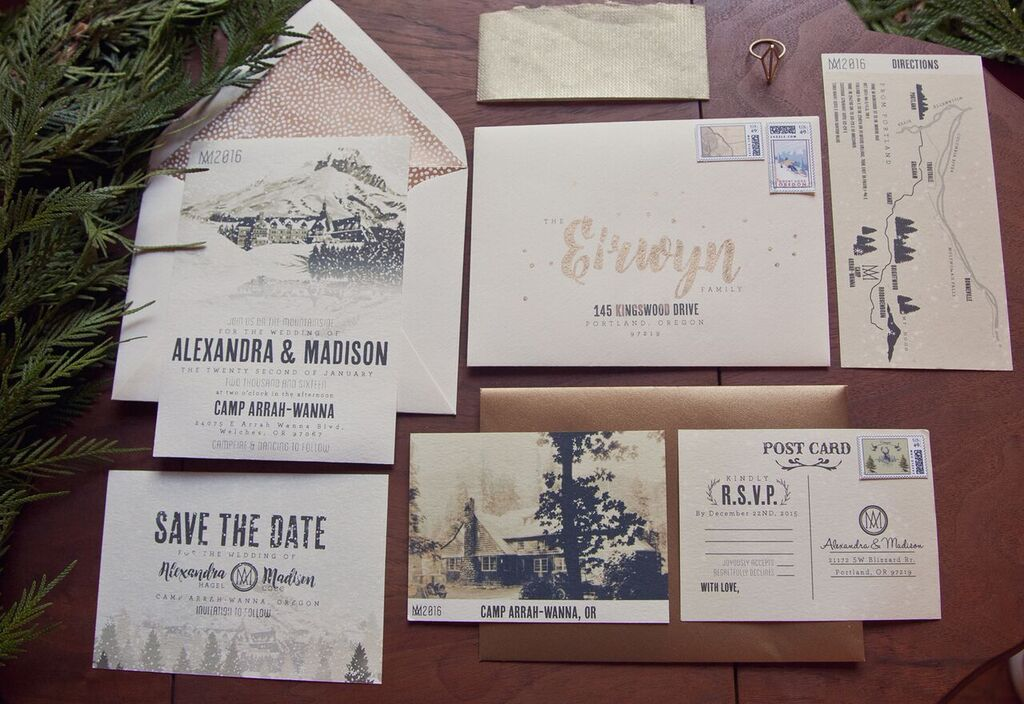 Wedding Invitations Portland Oregon: Rustic Lodge Wedding Inspiration
