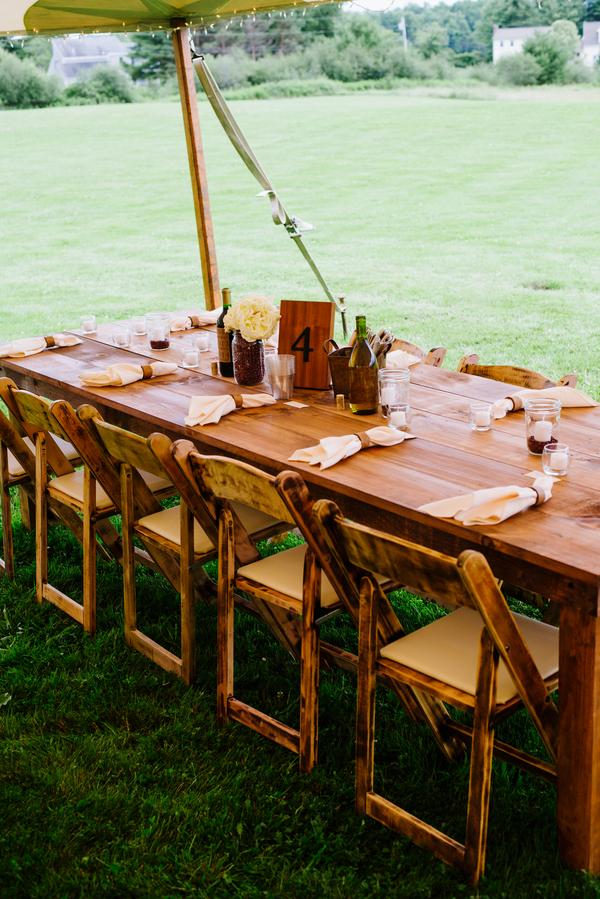 Backyard Maine Wedding - Rustic Wedding Chic