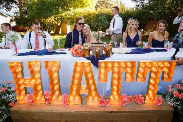 Last Name Sign At Wedding