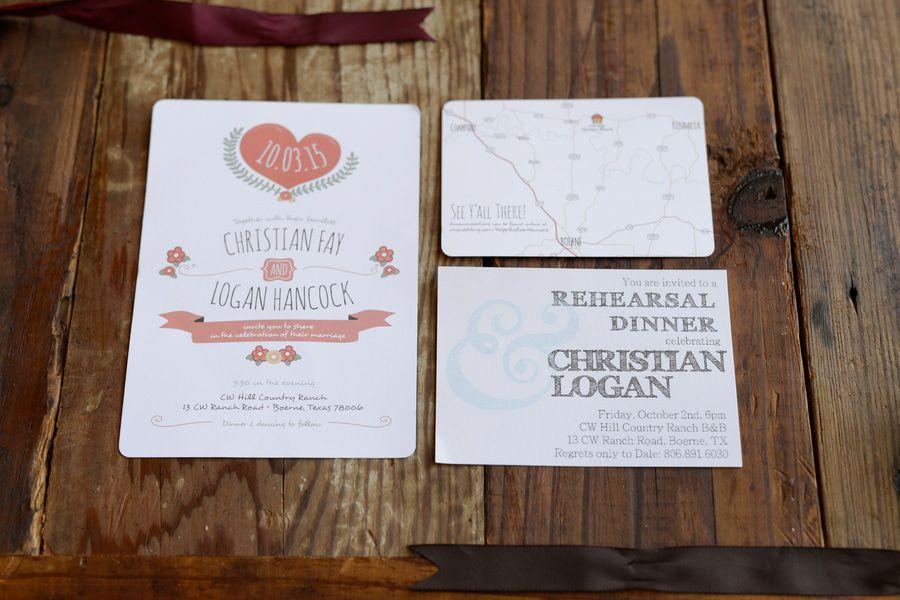 Overnight Wedding Invitations: Rustic Wedding Chic