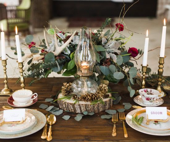 Rustic winter weddings ideas and decorations for a winter wedding rustic romantic wedding junglespirit
