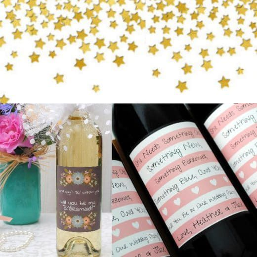 Personalized Bridesmaid Wine Bottles