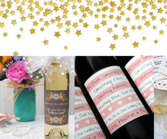 Personalized Bridesmaid Wine Bottles