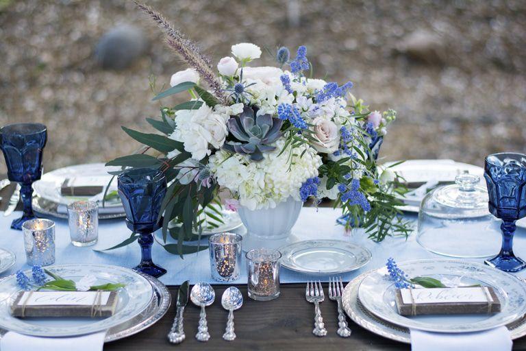 Country Blue Wedding Inspiration - Rustic Wedding Chic