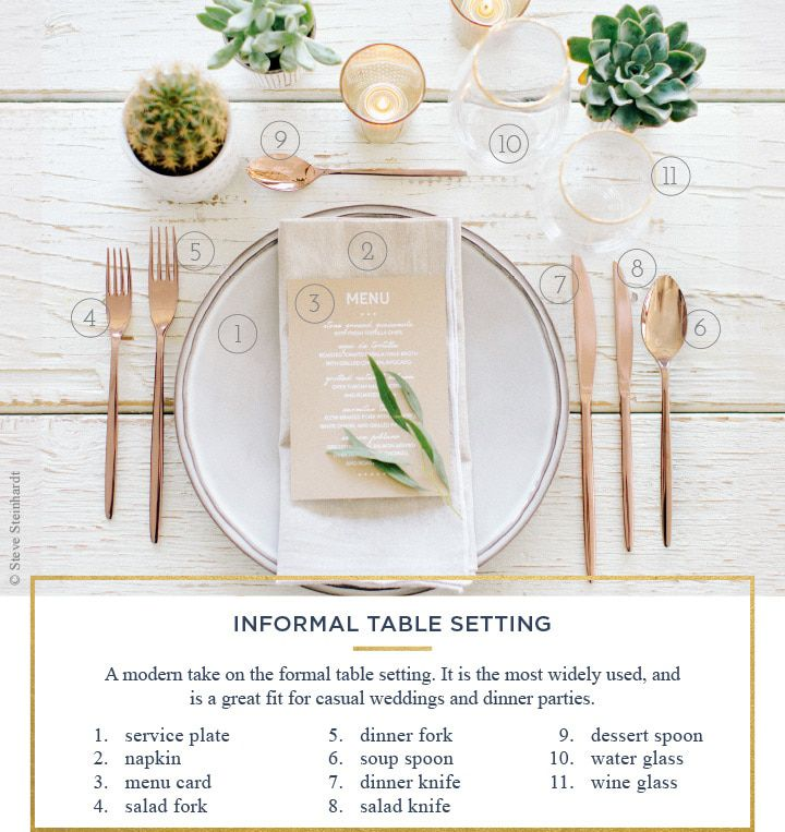 How To Set A Table For Every Occassion - Rustic Wedding Chic