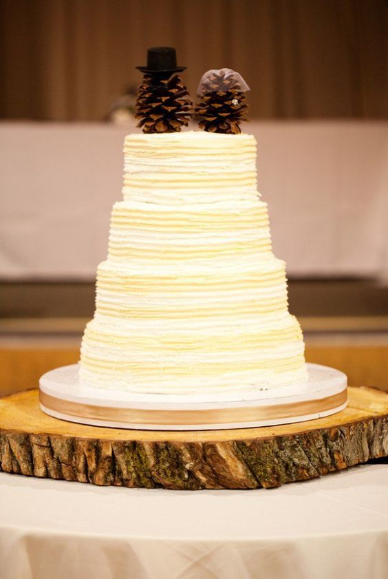 10 Pinecone Wedding Cakes You Will Pine For - Rustic Wedding Chic