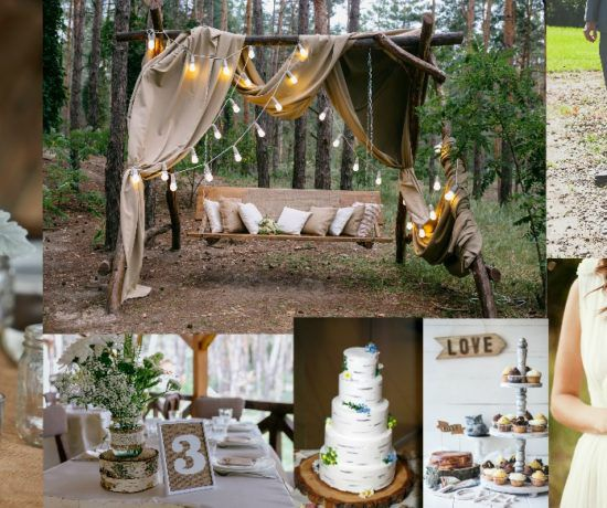 Summer camp wedding ideas venues and invitations for Country wedding reception decorations